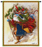 Windswept Santa Wall Tapestry by Peggy Abrams