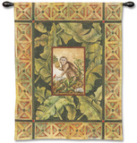Macaca Mulata II Wall Tapestry by Dwight Wood