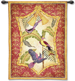 Aviary II Wall Tapestry by Abigail Kamelhair