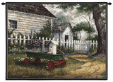 Antique Wagon Wall Tapestry by Michael Humphries