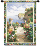 Tranquil Overlook Wall Tapestry by James Reed