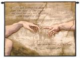 Creación de Adán Tapiz por Michelangelo Buonarroti