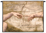 Creation of Adam Wall Tapestry by  Michelangelo Buonarroti