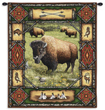 Buffalo Lodge Wall Tapestry
