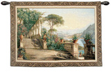 Lodge Lake Como Wall Tapestry by Carl Frederic Aagaard
