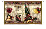 Nouveau Wine Wall Tapestry by Alma Lee
