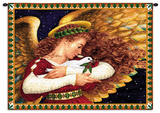 Angel Dove Wall Tapestry by Lynn Bywaters