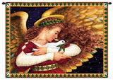 Ángel y paloma Tapiz por Lynn Bywaters