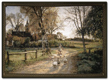 Goose Girl Wall Tapestry by Peder Mork Monsted