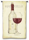 Wine Cellar Wall Tapestry by Emily Adams
