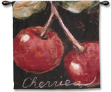 Ripe Cherries Wall Tapestry by Nicole Etienne
