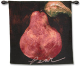 Red Pear Wall Tapestry by Nicole Etienne