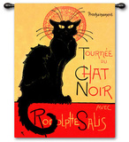 Tournee Chat Noir Wall Tapestry by Th&#233;ophile Alexandre Steinlen