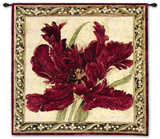 Fire Red Tulip Wall Tapestry by Elizabeth Jardine