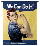 Rosie the Riveter Wall Tapestry by J. Howard Miller