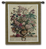 July Botanical Wall Tapestry by Robert Furber