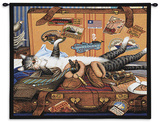 Mabel the Stowaway Wall Tapestry by Charles Wysocki