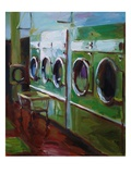 Laundromat Giclee Print by Pam Ingalls