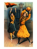 Album Card Depicting Women Basketball Players from Princeton University Giclee Print