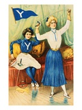 Album Card Depicting Women Fencers from Yale University Giclee Print