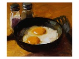 Fried Eggs III Premium Giclee Print by Pam Ingalls