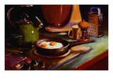 Eggs at Jan's Premium Giclee Print by Pam Ingalls