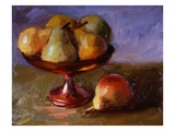 Pears and Copper Dish Premium Giclee Print by Pam Ingalls