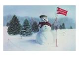Golfing Snowman Giclee Print by Kirsten Soderlind