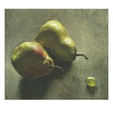 Two Pears and a Grape Giclee Print by Robert McIntosh