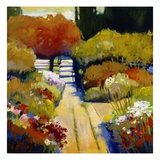 Summer Walk Giclee Print by Lou Wall