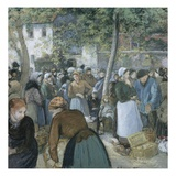 Poultry Market, Gisors Giclee Print by Camille Pissarro