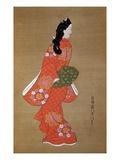 Beauty Premium Giclee Print by Hishikawa Moronobu