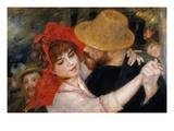 Détail du Bal à Bougival représentant un couple en train de danser Reproduction procédé giclée par Pierre-Auguste Renoir
