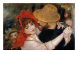 Detail of Dancing Couple from Le Bal a Bougival Premium Giclee Print by Pierre-Auguste Renoir