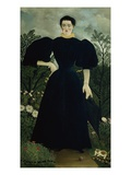 Portrait of Mrs. M. Giclee Print by Henri Rousseau