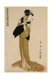 Full-Length Portrait of the Actor Segawa Kikunojo in the Female Role of Ohama Giclee Print by Utagawa Toyokuni