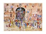 Venice: Riva Degli Schiavoni, Castello Giclee Print by Maurice Brazil Prendergast