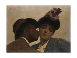 The Kiss Giclee Print by Theodore Jacques Ralli