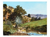 A Hunter in a Landscape Giclee Print by Paul Camille Guigou