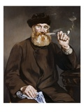 Man Smoking a Pipe Giclee Print by Edouard Manet