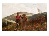 Two Guides Stampa giclée di Winslow Homer