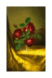 Roses in a Crystal Goblet Giclee Print by Martin Johnson Heade