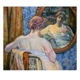 Woman at a Mirror Gicléetryck av Theo van Rysselberghe