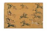 Plains Pictographic Drawing of a Battle Giclee Print
