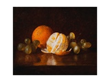 Still Life with Orange and Grapes Giclee Print by Descott Evans