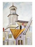 Church Steeple and Rooftops Giclee Print by Edward Hopper