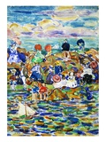 Idlers on the Beach Giclee Print by Maurice Brazil Prendergast