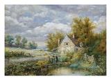 Cottage Hambledon, Surrey Giclee Print by Myles Birket Foster