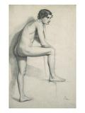 Nude Study Giclee Print by Edgar Degas