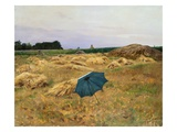 The Blue Umbrella Giclee Print by Charles Sprague Pearce